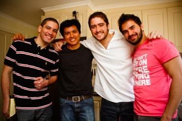 Luiz, Juan, Pedro e Thiago