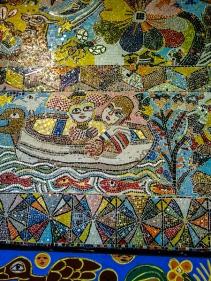 Parede em mosaico na Flinders Station