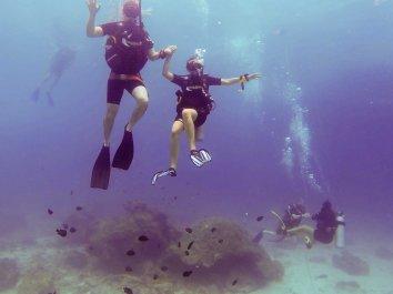 Enamorados no fundo mar